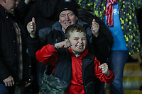 Fleetwood Town fans celebrates after the Sky Bet League 1 match between Oxford United and Fleetwood Town at the Kassam Stadium, Oxford, England on 10 April 2018. Photo by David Horn.