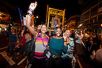 Supporters of the family of sean Rigg attend a rally and march in his memory on the fourth anniversary of his death in Brixton Police station. 21-8-12