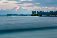 Long exposure of Summer landscape of Denali and Mt. Foraker with Susitna River in foreground<br /> <br /> Photo by Jeff Schultz/SchultzPhoto.com  (C) 2018  ALL RIGHTS RESERVED<br /> <br /> Photo by Jeff Schultz/SchultzPhoto.com  (C) 2018  ALL RIGHTS RESERVED