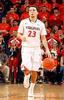 Virginia guard London Perrantes (23) during the game Saturday, February 22, 2014,  in Charlottesville, VA. Virginia won 70-49.