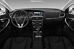 Stock photo of straight dashboard view of 2017 Volvo V40-Cross-Country - 5 Door Wagon Dashboard
