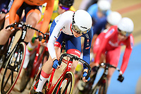 Picture by SWpix.com - 02/03/2018 - Cycling - 2018 UCI Track Cycling World Championships, Day 3 - Omnisport, Apeldoorn, Netherlands - Woman's Omnium Scratch Race - Elinor Barker of Great Britain