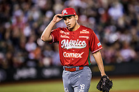 Isidro Marquez p&iacute;tcher de Mexico  se lleva el salvamento durante la Serie del Caribe . Mexico Gana 8 carreras por 1. <br /> <br /> Baseball game of the Caribbean Series, with the match between the Tomateros of Culiacan of Mexico against the Cibae&ntilde;as Eagles of the Dominican Republic at the Pan American Stadium in Guadalajara, Mexico, Tuesday 6 Feb 2018.<br /> (Photo: Luis Gutierrez)<br /> <br /> Partido de beisbol de la Serie del Caribe con el encuentro entre los Tomateros de Culiacan de Mexico contra las &Aacute;guilas Cibae&ntilde;as  de Republica Dominicana  en estadio Panamericano en Guadalajara, M&eacute;xico, Martes 6 feb 2018. <br /> (Foto: Luis Gutierrez)