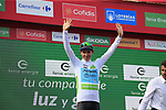 Miguel Angel Lopez Moreno (COL) Astana Pro Team retains the young riders White Jersey at the end of Stage 3 of La Vuelta 2019 running 188km from Ibi. Ciudad del Juguete to Alicante, Spain. 26th August 2019.<br /> Picture: Ann Clarke | Cyclefile<br /> <br /> All photos usage must carry mandatory copyright credit (© Cyclefile | Ann Clarke)