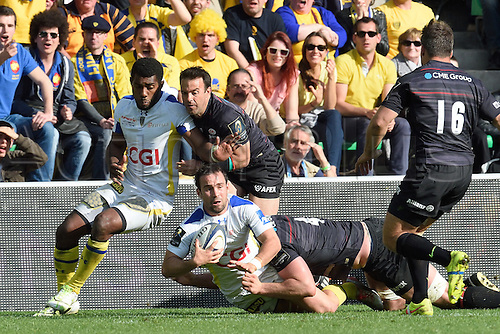 18.04.2015. Clermont-Ferrand, Auvergne, France. Champions Cup rugby semi-final between ASM Clermont and Saracens.   Morgan Parra (asm)