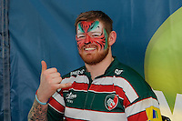 Fans enjoy the face painting in the LV= zone before the LV= Cup Final match between Leicester Tigers and Northampton Saints at Sixways Stadium, Worcester on Sunday 18 March 2012 (Photo by Rob Munro, Fotosports International)