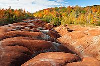 Erosion in Cheltenham Badlands in autumn<br /> Cheltenham<br /> Ontario<br /> Canada