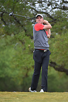 Martin Laird (SCO) watches his tee shot on 2 during Round 3 of the Valero Texas Open, AT&T Oaks Course, TPC San Antonio, San Antonio, Texas, USA. 4/21/2018.<br /> Picture: Golffile | Ken Murray<br /> <br /> <br /> All photo usage must carry mandatory copyright credit (© Golffile | Ken Murray)