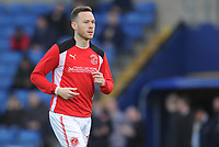 Fleetwood Town's Gethin Jones during the pre-match warm-up <br /> <br /> Photographer Kevin Barnes/CameraSport<br /> <br /> The EFL Sky Bet League One - Oxford United v Fleetwood Town - Tuesday 10th April 2018 - Kassam Stadium - Oxford<br /> <br /> World Copyright &copy; 2018 CameraSport. All rights reserved. 43 Linden Ave. Countesthorpe. Leicester. England. LE8 5PG - Tel: +44 (0) 116 277 4147 - admin@camerasport.com - www.camerasport.com