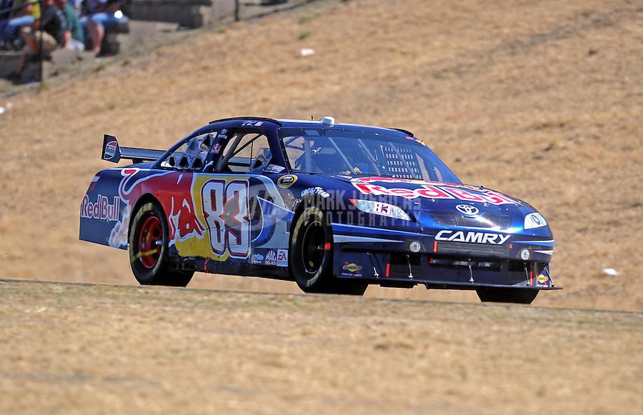 Jun. 21, 2009; Sonoma, CA, USA; NASCAR Sprint Cup Series driver Brian Vickers during the SaveMart 350 at Infineon Raceway. Mandatory Credit: Mark J. Rebilas-