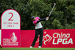 Ajar Nualraksa of Thailand tees off at the 2nd hole during Round 1 of the World Ladies Championship 2016 on 10 March 2016 at Mission Hills Olazabal Golf Course in Dongguan, China. Photo by Victor Fraile / Power Sport Images