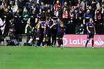 FC Barcelona's players celebrates goal during La Liga match between Rayo Vallecano and FC Barcelona at Vallecas Stadium in Madrid, Spain. November 03, 2018. (ALTERPHOTOS/A. Perez Meca)