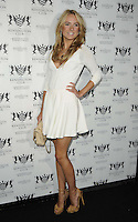Kimberley Garner.attended the Kensington Club new boutique nightclub launch party, The Kensington Club, High Street Kensington, London, England,.20th July 2012..full length white dress beige nude bag shoes hand on hip .CAP/CAN.©Can Nguyen/Capital Pictures.