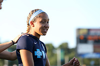 Cary, North Carolina  - Saturday August 05, 2017: Jaelene Hinkle prior to a regular season National Women's Soccer League (NWSL) match between the North Carolina Courage and the Seattle Reign FC at Sahlen's Stadium at WakeMed Soccer Park. The Courage won the game 1-0.