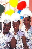 Colorful costumes on girls part of City Rocketts, Bermuda