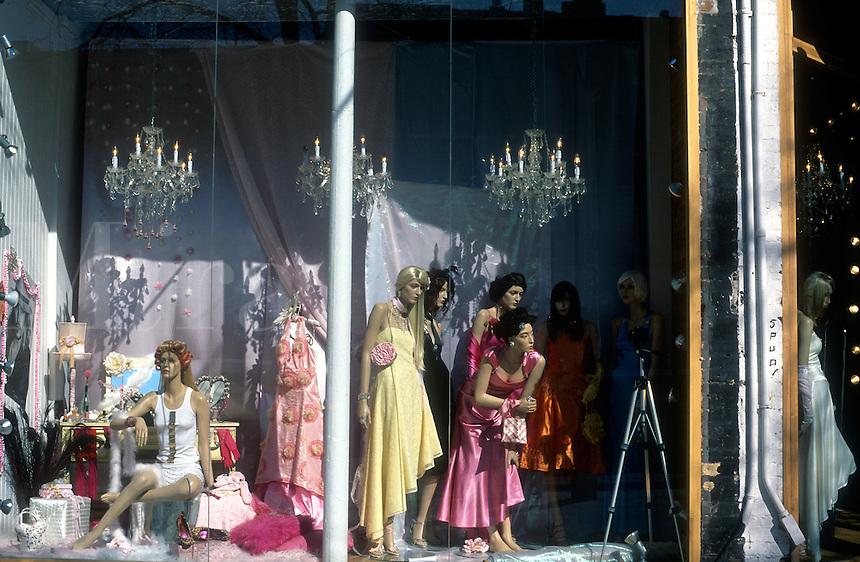 Canada, Ontario, Toronto, Queen Street West,  women mannequins in window display