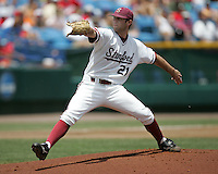 Stanford and Georgia play during 2008 NCAA Men's College World Series in Game #11 at Rosenblatt Stadium in Omaha, Nebraska on Saturday June 21st, 2008.  Photo by Andrew Woolley / Baseball America.