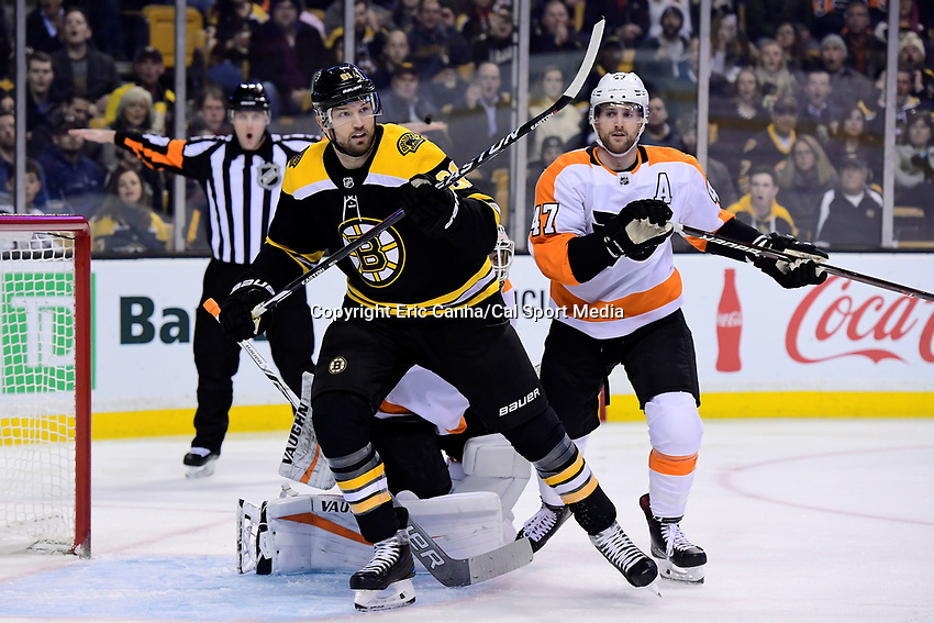 March 8, 2018: Boston Bruins left wing Rick Nash (61) in game action during the NHL game between the Philadelphia Flyers and the Boston Bruins held at TD Garden, in Boston, Mass. Boston defeats Philadelphia 3-2 in regulation time. Eric Canha/CSM
