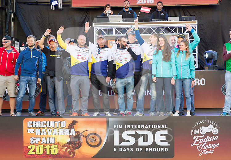 Slovakia enduro team during the presentation of the FIM international six days of enduro 2016 in Pamplona, Spain. October 09, 2016. (ALTERPHOTOS/Rodrigo Jimenez)