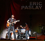 SIOUX FALLS, SD - MAY 16:  Eric Paslay performs at the Sioux Falls Arena Friday night, opening for Brantly Gilbert. (Photo by Dave Eggen/Inertia)