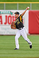 Bo Way (24) of the Salt Lake Bees during the game against the Omaha Storm Chasers in Pacific Coast League action at Smith's Ballpark on May 8, 2017 in Salt Lake City, Utah. Salt Lake defeated Omaha 5-3. (Stephen Smith/Four Seam Images)