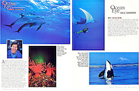 "Inside three page ""Ocean Eye"" feature in DIVE TRAVEL Magazine."