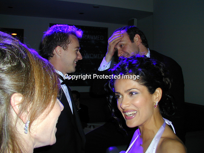 Ed Norton,  Kevin Spacey &amp; Salma Hayek<br />
