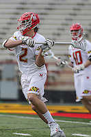 College Park, MD - February 25, 2017: Maryland Terrapins Colin Heacock (2) passes the ball during game between Yale and Maryland at  Capital One Field at Maryland Stadium in College Park, MD.  (Photo by Elliott Brown/Media Images International)