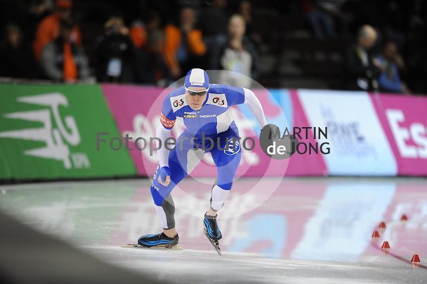 SCHAATSEN: SALT LAKE CITY: Olympic Oval, 27-01-2013, Seizoen 2012-2013, Essent ISU WK sprint, 500m Men, Pekka Koskela (FIN), ©foto Martin de Jong