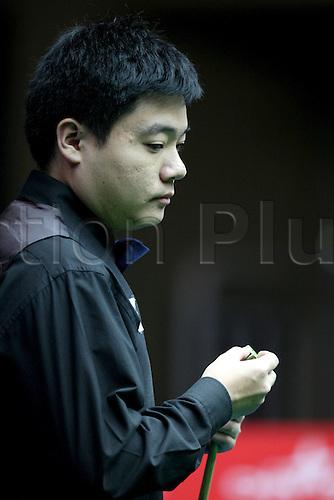 Apr 01, 2011; Beijing, CHINA; Ding Junhui defeats Stephen Lee 5:2 in a quarterfinal match at the Bank of Beijing 2011 World Snooker China Open.