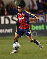 Tony Beltran in the Real Salt Lake 3-0 win over the Colorado Rapids, October 24, 2009 at Rio Tinto Stadium in Sandy, Utah.