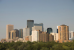 Minnesota, Twin Cities, Minneapolis-Saint Paul:  Minneapolis skyline from Walker Art Center..Photo mnqual281-75238..Photo copyright Lee Foster, www.fostertravel.com, 510-549-2202, lee@fostertravel.com.