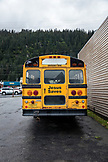 USA, Alaska, Seward, a bus sitting in downtown Seward