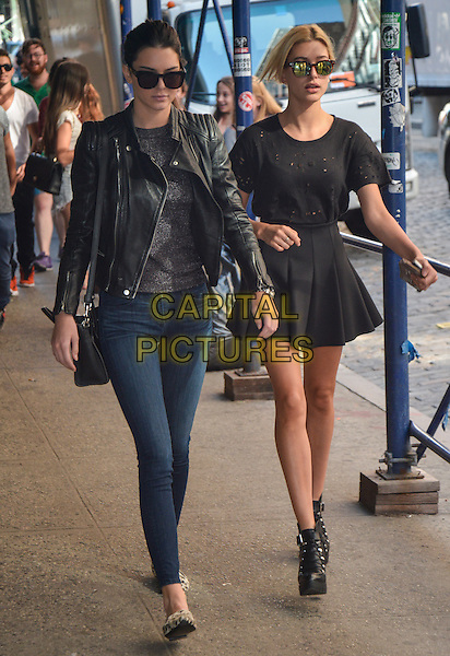 NEW YORK, NY - AUGUST 29: Kendall Jenner and Hailey Baldwin walk to dinner in Soho in New York, New York on August 29, 2014. <br /> CAP/MPI67<br /> &copy;MPI67I/Capital Pictures
