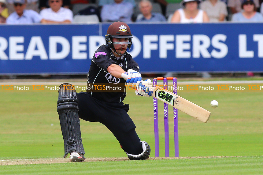 Rory Burns in batting action for Surrey during Essex Eagles vs Surrey, Royal London One-Day Cup Cricket at the Essex County Ground on 24th July 2016