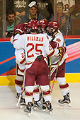 Michael Davies (DU - 21), Jarid Lukosevicius (DU - 14), Blake Hillman (DU - 25), Troy Terry (DU - 19), Dylan Gambrell (DU - 7) - The University of Denver Pioneers defeated the University of Minnesota Duluth Bulldogs 3-2 to win the national championship on Saturday, April 8, 2017, at the United Center in Chicago, Illinois.