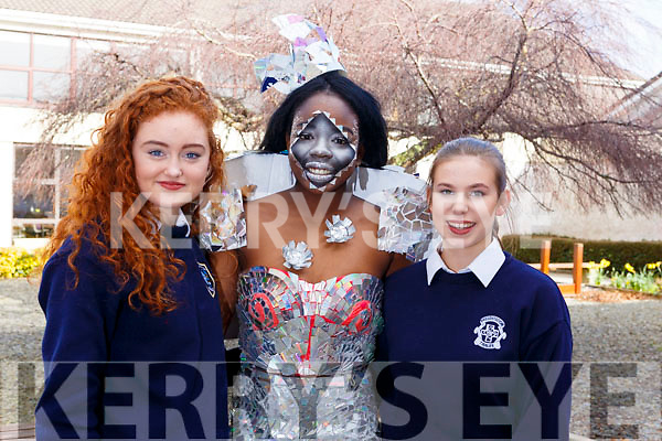 Presentation Secondary School students Creation of Light C.D.Ramatic been modelled by Zainab Lawal who also designed it with Edel Campion and Niamh Rahilly