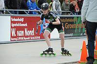 INLINE-SKATEN: HEERDE: Skeeler- en Skatecentrum Hoornscheveen, Europa Cup/Univé Skate Off, 05-05-2012, Rina von Burg SUI (#16 | Junior A), ©foto Martin de Jong