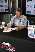 Bravo's Andy Cohen signs copies of his recently released book, Most Talkative, Stories from the Front Lines of Pop Culture at new NBC Experience Store in  New York City. © Diego Corredor/MediaPunch Inc. *NORTEPHOTO*<br />