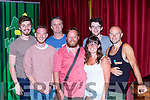 Denis Len, Michael morgan, Tony Dunne, Corneilius Patrick O'Sullivan, Roger O'sullivan, Tadhg Hickey and Claire O'connor who performed at the Killarney Comedy club in the Eviston House Hotel on Saturday night