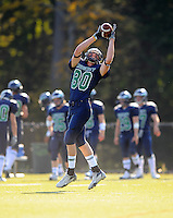The Endicott College defense forced nine Framingham State turnovers, including seven by way of interception, as the Gulls edged a 26-15 victory in each team's season-opener on Saturday evening in Beverly, Mass. Endicott's Neil Powers (Westford, Mass.) made a spectacular leaping catch in the far corner of the endzone with under three minutes left in the fourth quarter to seal the win.
