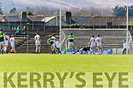 Michael Geaney (10) slams the ball past the Tyrone keeper during their National League clash in Fitzgerald Stadium on Sunday