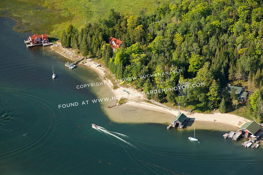 Cincinnati Row on LaSalle Island; Les Cheneaux area of Lake Huron near Cedarville, MI