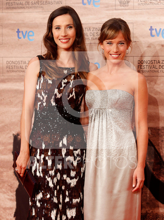 Spanish actresses Barbara Goenaga (l) and Marta Etura during the 59th San Sebastian Donostia International Film Festival - Zinemaldia.September 24,2011.(ALTERPHOTOS/ALFAQUI/Acero)