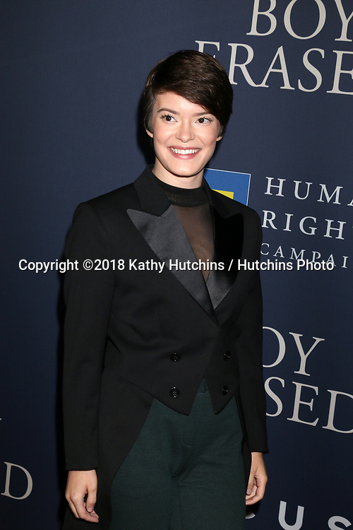 """LOS ANGELES - OCT 29:  Emily Hinkler at the """"Boy Erased"""" Premiere at the Directors Guild of America Theater on October 29, 2018 in Los Angeles, CA"""