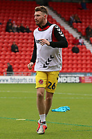 Fleetwood Town's James Husband during the pre-match warm-up <br /> <br /> Photographer David Shipman/CameraSport<br /> <br /> The EFL Sky Bet League One - Doncaster Rovers v Fleetwood Town - Saturday 6th October 2018 - Keepmoat Stadium - Doncaster<br /> <br /> World Copyright © 2018 CameraSport. All rights reserved. 43 Linden Ave. Countesthorpe. Leicester. England. LE8 5PG - Tel: +44 (0) 116 277 4147 - admin@camerasport.com - www.camerasport.com
