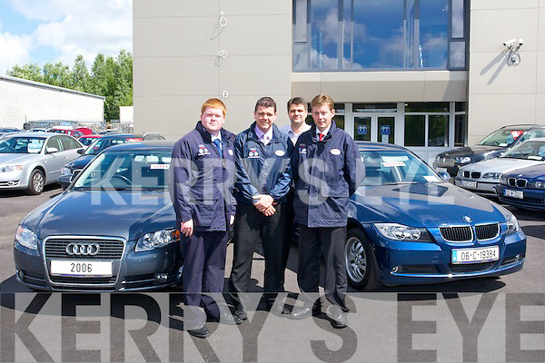 The Kingdom Autopoint.team outside their new.state-of-the-art showroom.at Listowel Road, Oakpark,.Tralee, where they.have over 140 cars on.sale. Open seven days a.week, Kingdom Autopoint.wecomes Sea?n O'Sullivan.from Abbeydorney to.their dynamic sales team..From left to right: John.Dillon, sales specialist,.Denis Hannifin, sales.manager, Brian Hannifin,.managing director and.Sea?n O'Sullivan, sales.specialist.