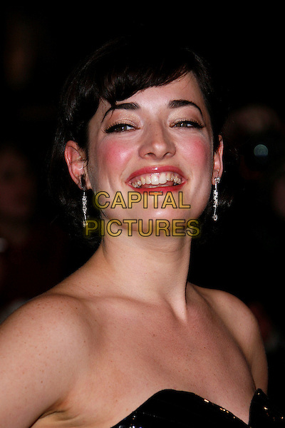 """LAURA MICHELLE KELLY.""""Sweeney Todd: The Demon Barber of Fleet Street"""" European film premiere, Odeon cinema, Leicester Square, London, England..January 10th, 2008 .headshot portrait strapless earrings .CAP/DAR.©Darwin/Capital Pictures"""