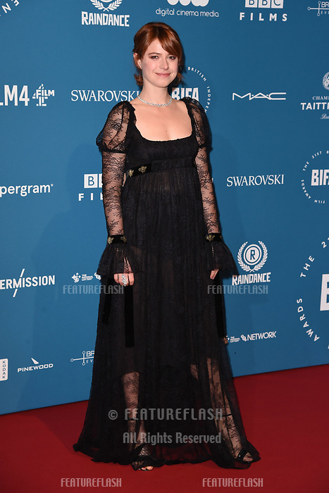 LONDON, UK. December 02, 2018: Jessie Buckley at the British Independent Film Awards 2018 at Old Billingsgate, London.<br /> Picture: Steve Vas/Featureflash