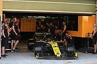 3rd December 2019; Yas Marina Circuit, Abu Dhabi, United Arab Emirates; Pirelli Formula 1 tyre testing sessions; Renault Sport F1 Team, Esteban Ocon